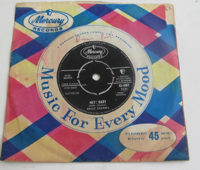 Bruce Channel HEY BABY 1962 UK 7